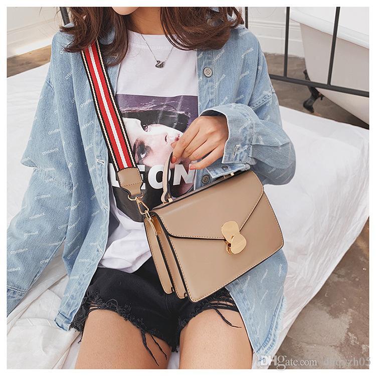 2019 ins nuevo estilo mujer solo bolso moda tendencia contratada diseño Temperamento joker bolsa de mensajero pequeña bolsa cuadrada