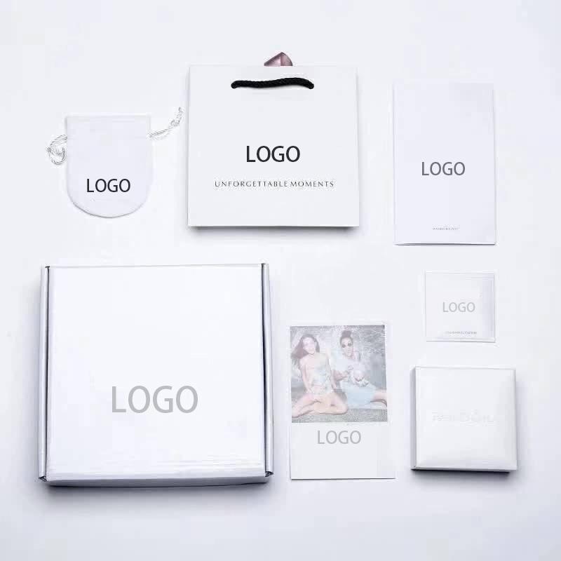 العلامة التجارية الجديدة الأبيض سوار التعبئة والتغليف مجوهرات صالح الأصل الأوروبي سحر سوار الجميلة علبة هدية