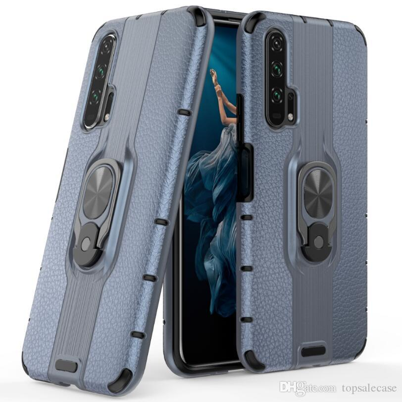 Pour Huawei Honor 20 Pro Étui Cool Ring Stand Robuste Combo Hybride Armure Support Impact Étui Couverture Pour Huawei Honor 20 Pro