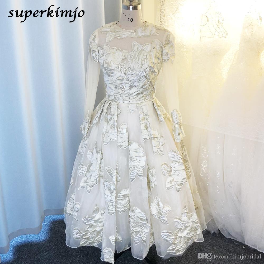 real vestidos de baile 2020 imagem real vestidos de noite gola decote manga longa uma linha de vestidos de noite de renda