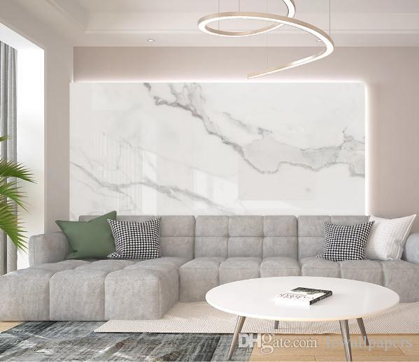 Encargo del papel pintado 3D pared papeles de la pared se dirigen la decoración de mármol blanco de la pintura de pared de la sala dormitorio del papel pintado