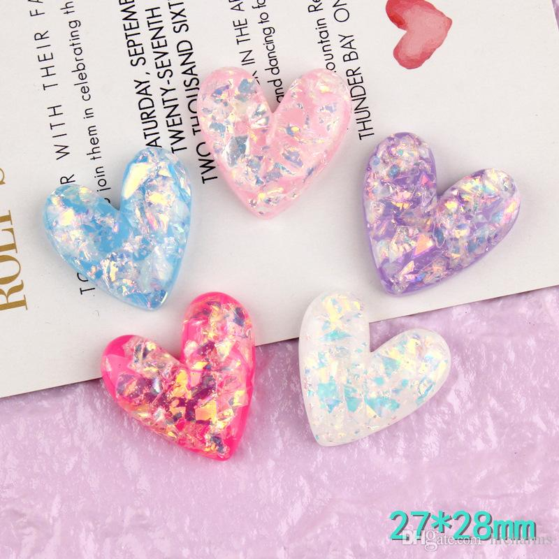 Key Ring Jewellery Making Pendant Love Heart Kawaii Acrylic Heart Charm
