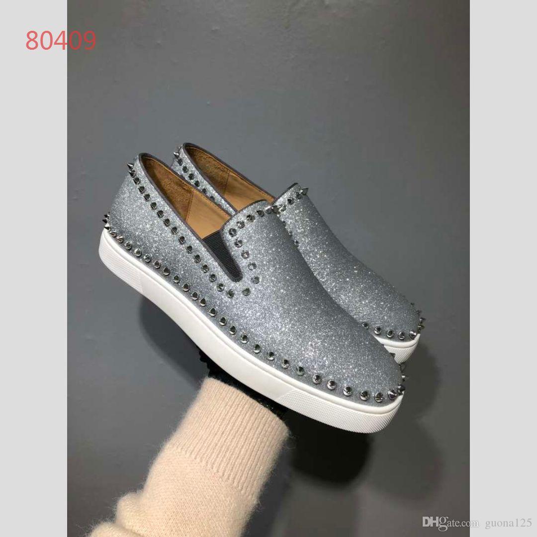 En kaliteli erkekler yeni stan tasarımcı ayakkabı kadınlar moda lüks ayakkabı Rahat ayakkabılar deri spor klasik daireler 2019 Boyutu 35-45 a1