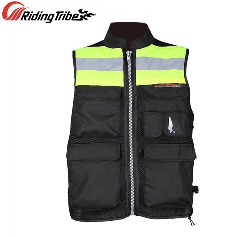 Motociclo ad alta visibilità Giacca avvertimento riflettente Gilet Moto Rider di sicurezza uniformi Abbigliamento squadra con Back Protector JK-34