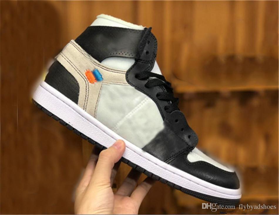 chaussures de marque de vente Hot 1 OG Off Top 1 Hommes Noir Rouge Chaussures de haute qualité UNC Outdoor Baskets Hommes Chaussures de sport blanc H2Q44M9B
