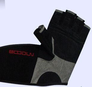 Fashion-Hot sale Long Wristband Cuff Grip Glove Fitness Sports Mitten/Training Leather Long Wrist Belt Weight Lifting Gym Gloves