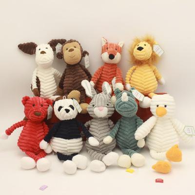 원숭이 부드러운 봉제 장난감 아기 아이 소녀 선물 오리 귀여운 Torest 동물 봉제 장난감 스트라이프 아기 코끼리 사자 여우 토끼 돼지 팬더