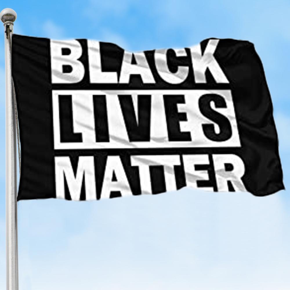 90*150cm BLACK LIVES MATTER Flag I CAN'T BREATHE Flag Black American Black Lives Matter Banner Flags 2 Styles CCA12230 20pcs