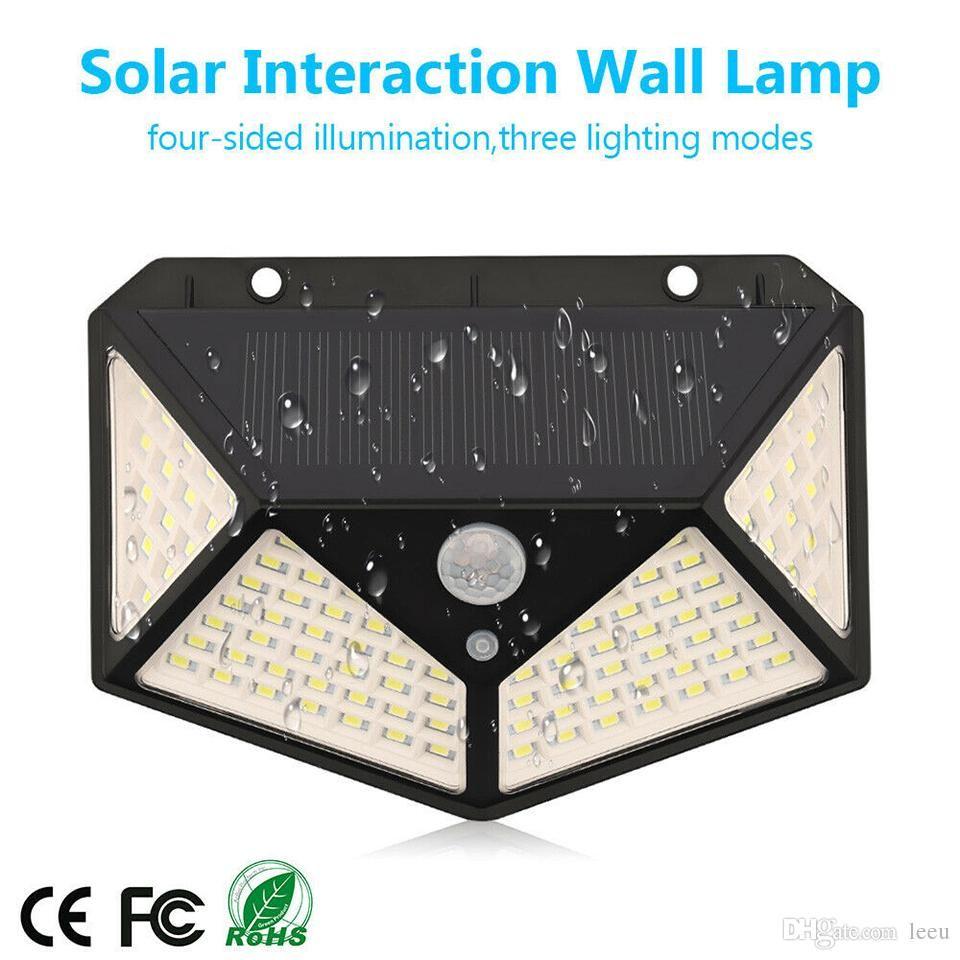 2020 Solar Led Lights Outdoor 3 Modes 100 Leds Solar Lamp Garden Motion Sensor 270 Degree Waterproof Ip65 Solar Security Light From Leeu 5 88 Dhgate Com