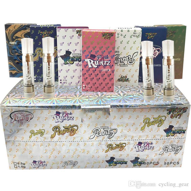 Runtz Cartridge Packaging Runts 510 Thread Vape Pen Vaporizer 0.8ML 1ML Ceramic Vape Cartridge M6T E Cigarettes Vape Carts Oil Atomizer