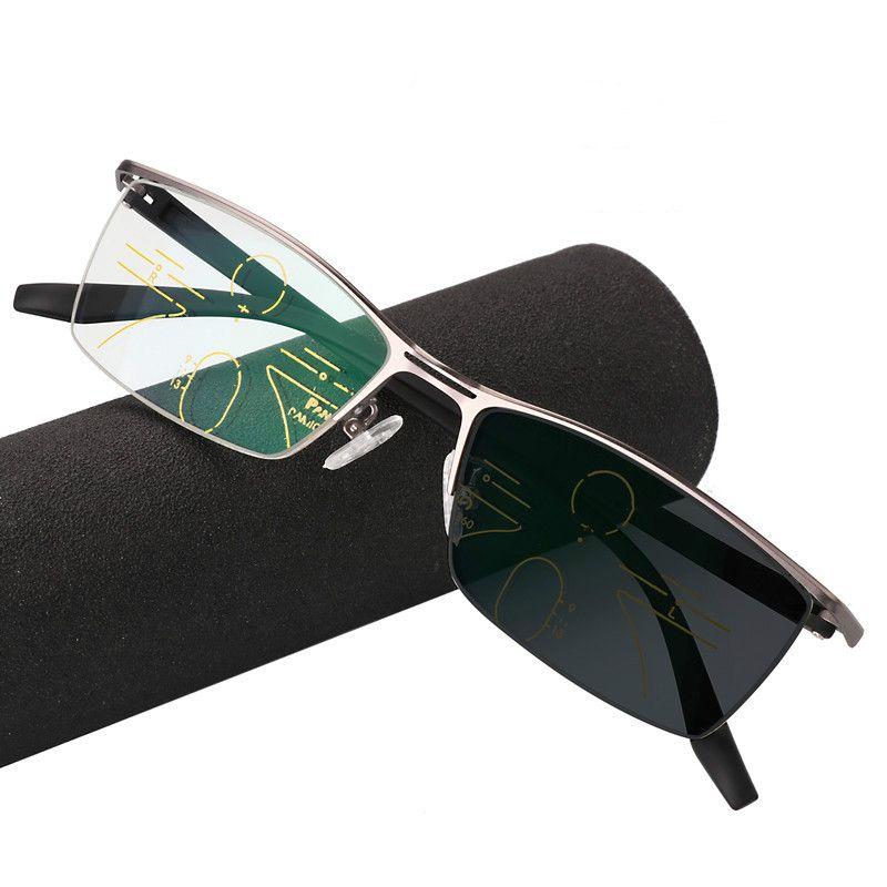 프로 그레시브 Multifocal Multifocus Reading Glasses 전환 선글라스 Men Eyewear Hyperopia Presbyopia