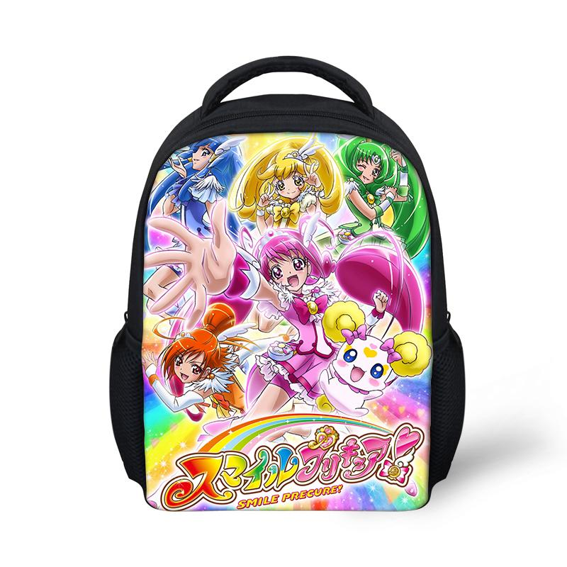 Cartoon Small School Bag For Baby Girls Smile Precure Pretty Cure Toddler Backpack Children Kids Rucksack 12 inch Mini Bookbag