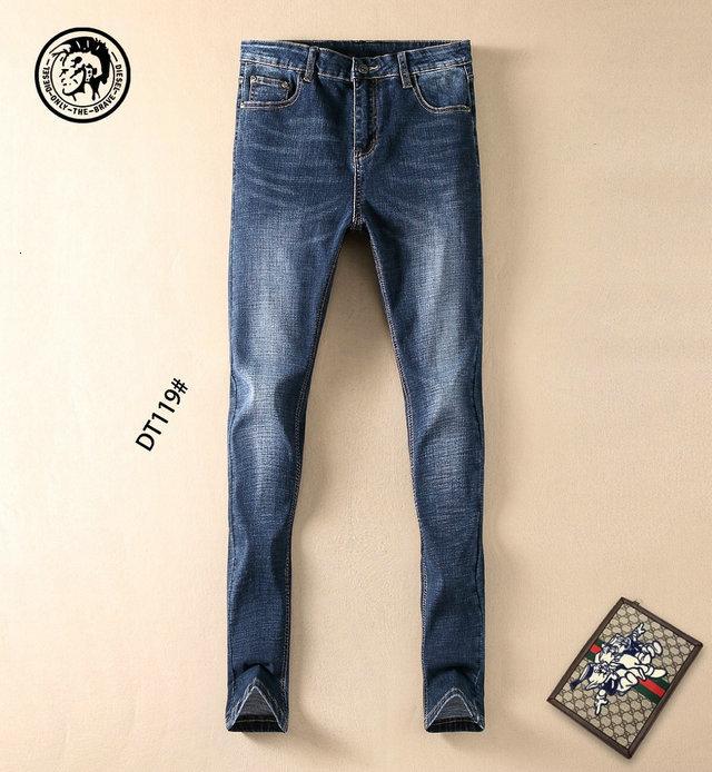 Erkek kot moda rahat pantolon boyutu 29-38 konforlu eğilim WSJ000 # 112697