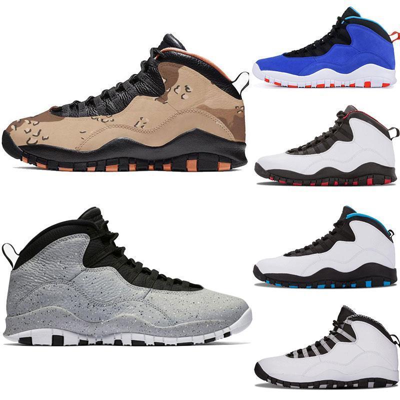 Erkek basketbol ayakkabıları 10 Desert Cat Tinker Çimento 10s erkek ayakkabı Gri Toz mavi eğitmenler spor boyutu 7-13 sneaker gri iam geri Soğuk
