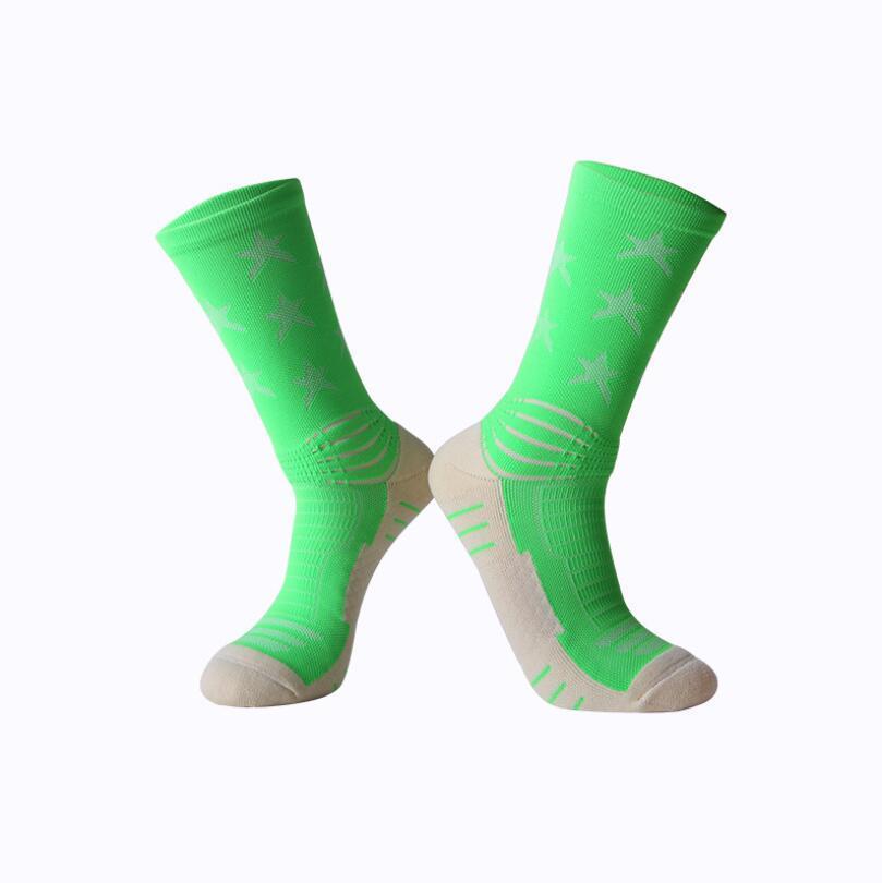 Nueva Moda Calcetines Largos Deportes Cheerleaders Buena Calidad Calcetines de Baloncesto Calcetines Estampados de Fútbol Envío Gratis