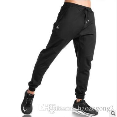 New Casual Men Sweatpants Joggers Homme Trousers Bodybuilding Pants mens stretch beam foot tie sports outdoor trousers for males