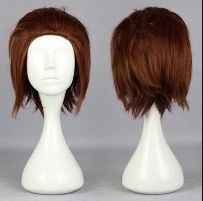 Peruca LL 004216 mundo gatilho Yuichi Jin curto marrom novo estilo peruca sintética