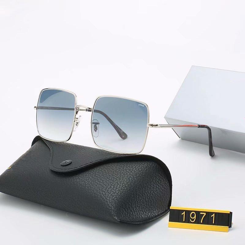 حار بيع فاخرة النظارات الشمسية العلامة التجارية تصميم خمر الطيار نظارات شمسية الفرقة الاستقطاب UV400 رجل إمرأة نظارات شمس زجاج عدسة مع مربع