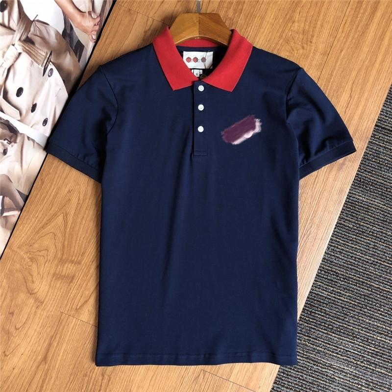 Marka tasarımcı moda erkek giyim kısa kollu tişört yaka POLO gömlek moda rahat konfor pamuk 14