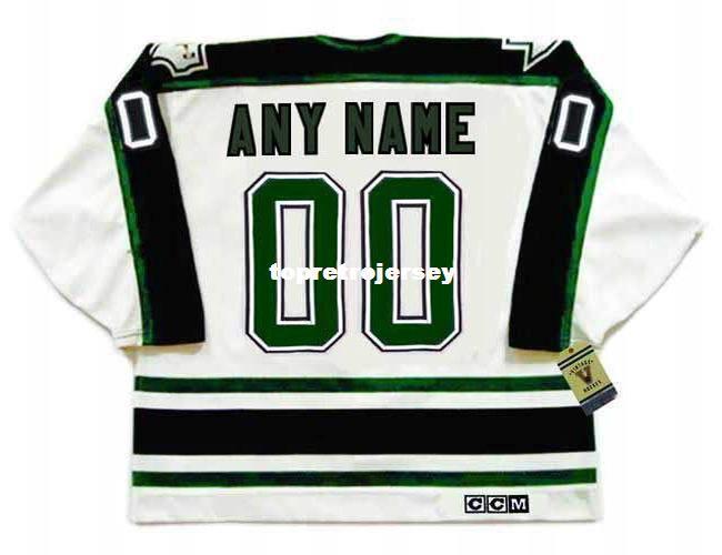 "Wholesale Mens DALLAS STARS 1990's CCM Vintage Home ""Wholesaleized"" Cheap Retro Hockey Jersey"