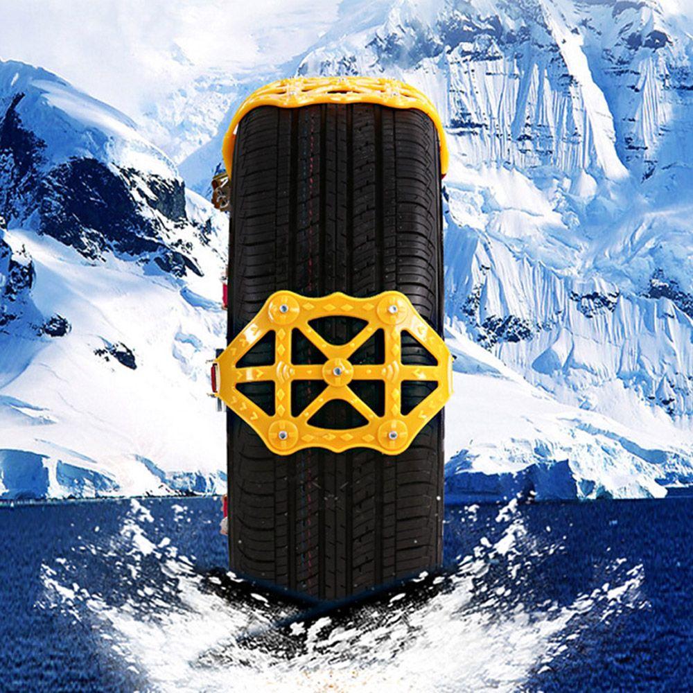 안전 보호 자동차 스노우 타이어 체인 유니버설 블랙 스틸 보안 미끄럼 방지 타이어 스노우 체인 자동차 스타일링
