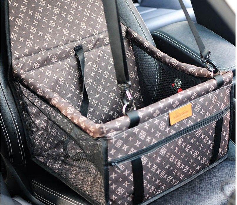 Faltendes Haustier liefert wasserdichte hund matte decke sicherheit haustier auto sitz tasche doppelt dicke reise zubehör mesh hängende taschen