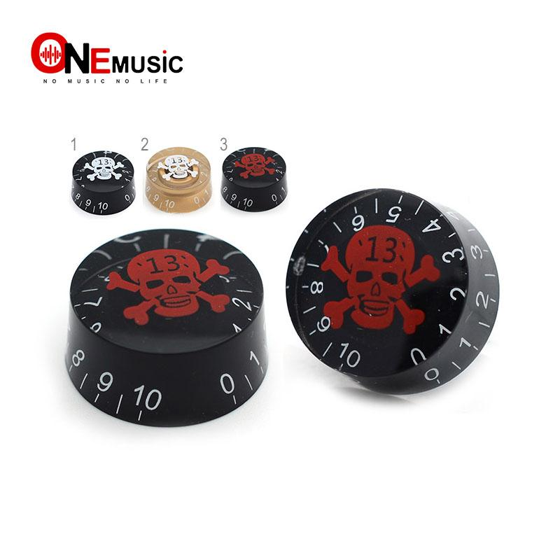4pcs Electric Guitar Speed Control Knob Skull Pattern for LP Guitar