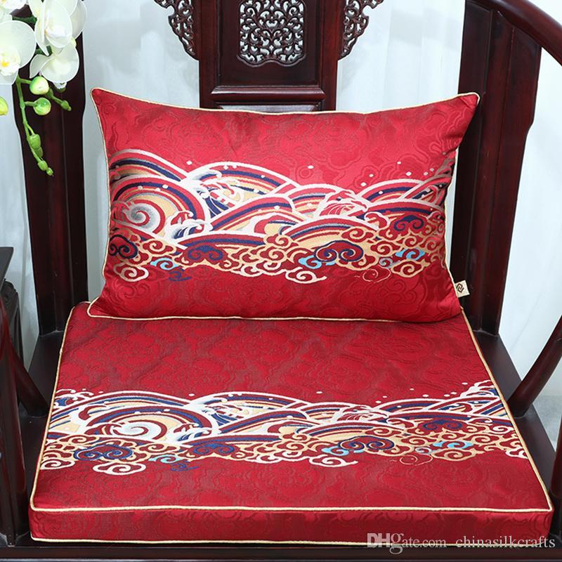 Урожай китайского шелка Brocade стул подушки сиденья Home Decor Толстые Кресло Подушка сиденья диван коврик стул Pad High End поясничная подушка