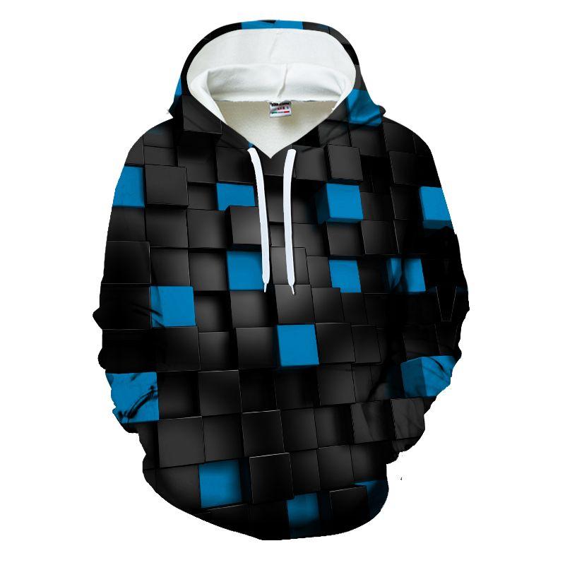 2019 neue streetwear Heißer Verkauf Männer Sweatshirts 3D Hoodie Männliche Trainingsanzüge Pullover Hoody Streetwear Mit quadraten Europäischen größe