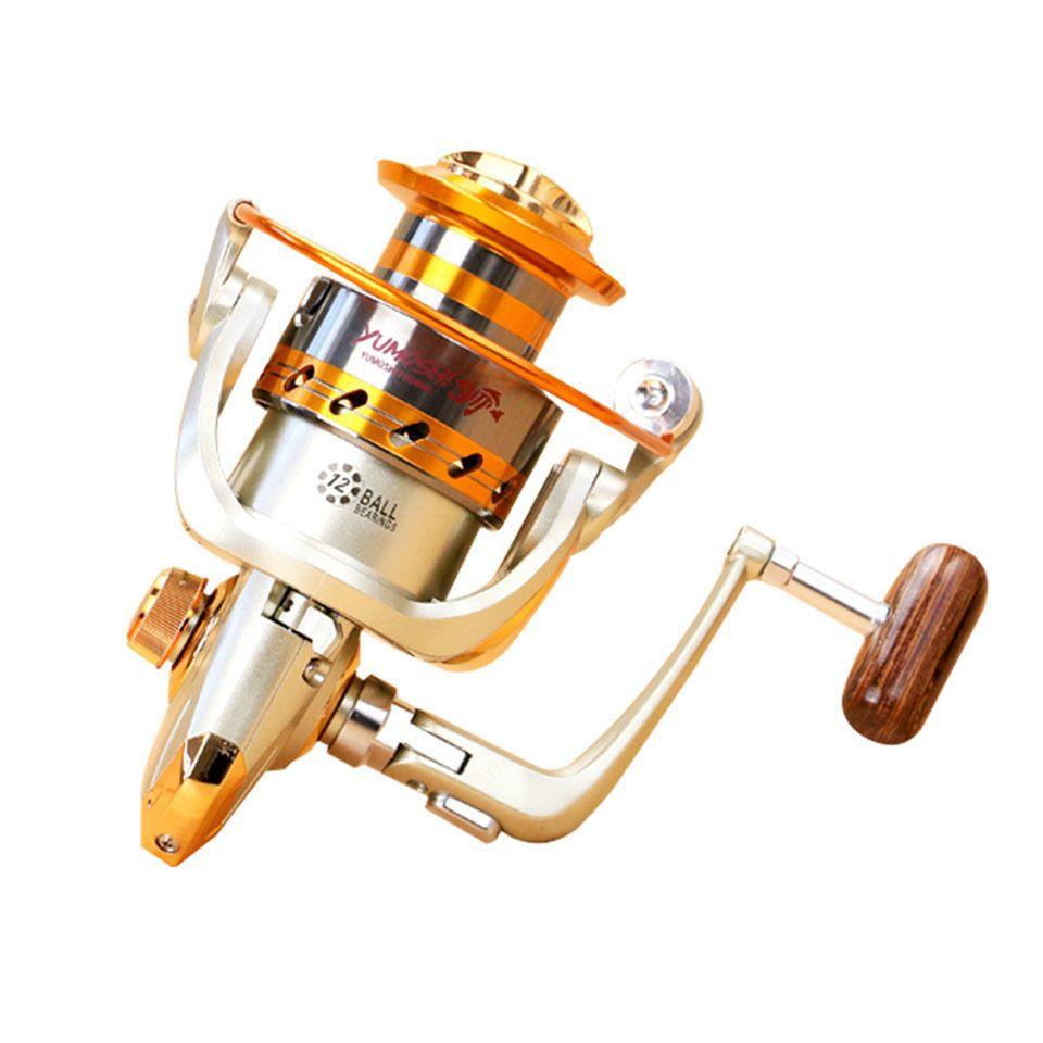 New EF500 - 9000 Series Aluminum Fishing carretéis 12BB Rolamentos Tipo Reel Anti água do mar de pesca rolo de corrosão