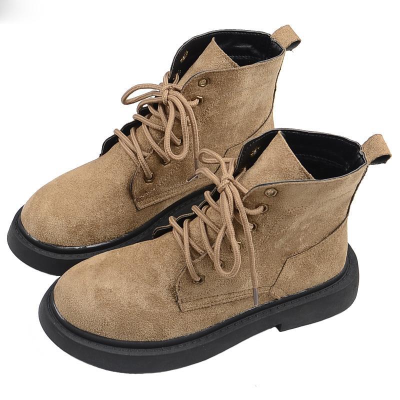 أوروبا أمريكا ريترو وسيم مارتن أحذية جولة رئيس الدانتيل متابعة سميكة سوليد طالب قصيرة أحذية البريطانية الرياح النسائية أحذية الكاحل