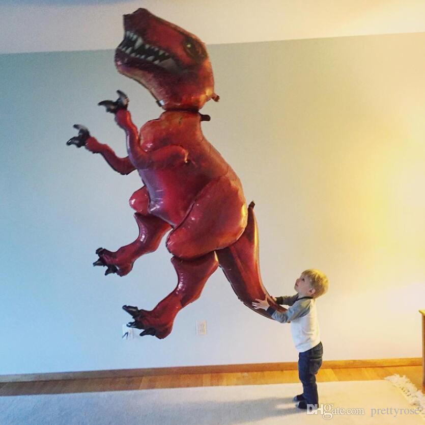 NUEVO Dinosaurio Papel de aluminio Fiesta de Cumpleaños Decoración Infantil Juguete Inflar Helio Globo animal zoológico tema decorar bola Jurásico Dinosaurio