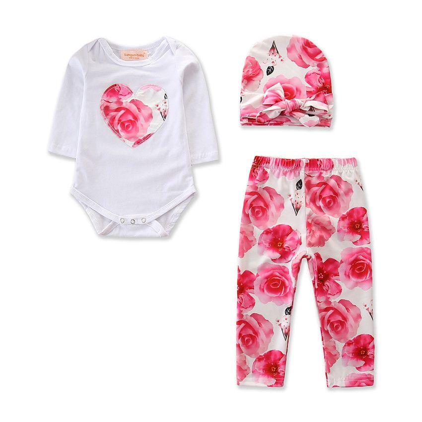 NOUVEAU Vêtements pour enfants Explosions chaudes pour bébés Spring and Automne Trend Tendance fraîche Robes à manches longues ROMPER Combinaison Pantalon Print Pantalon