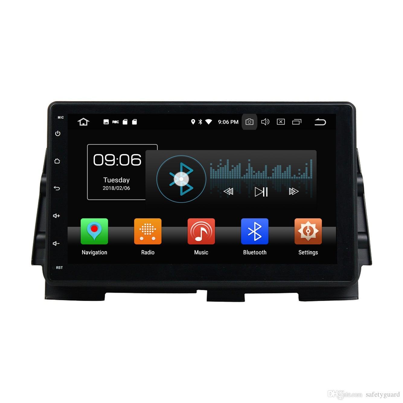 "Octa 코어 10.1 ""2 닌 안드로이드 8.0 자동차 DVD 라디오 플레이어 GPS 블루투스 와이파이 USB 미러 링크 4 기가 바이트 RAM 32 기가 바이트 ROM과 2016 차기 킥에 대한"