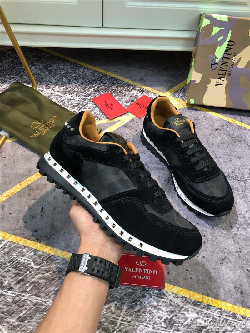 2018diseñador de moda de Lujo Zapatos de mujer formatori scarpe casual piattaforma scarpe da calcio superiore di formazione di qualità Mystic Verde