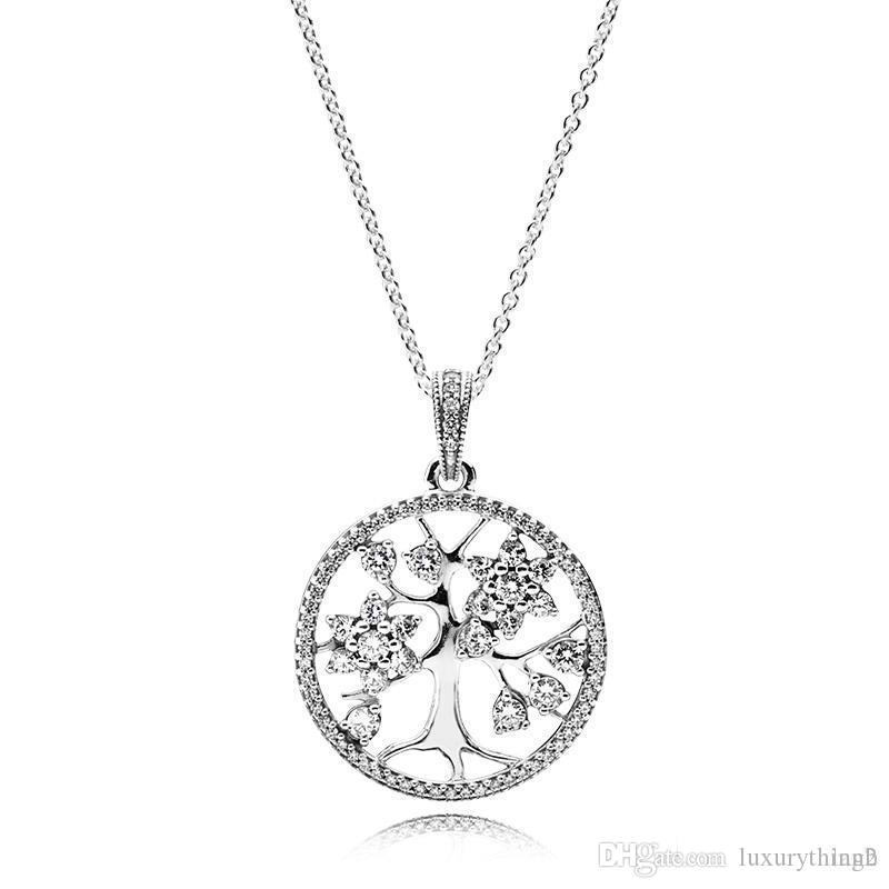 Wholesale 925 Sterling Silver Family Tree Of Life Pendant Necklace With Logo Engraved Fit Pandora Jewelry Men Women Necklace Charms For Bracelets Mom Pendant Necklace From Luxurything2 42 73 Dhgate Com