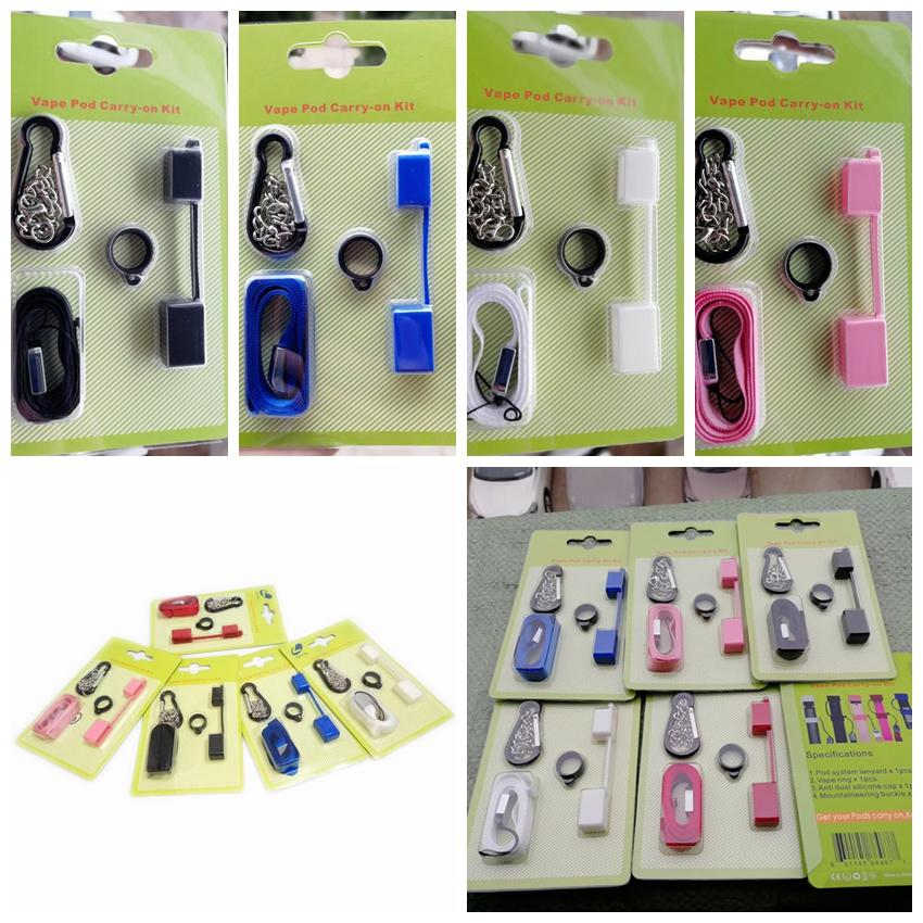 Colorful Silicone Ring Lanyard Cap System Free Replacement Buckle Kit For E-cigarette Vape Pod Heat-not-Burn Evod EGo Battery Hot Cake