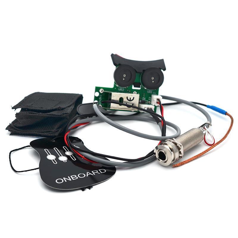 5шт Sound Hole Undersaddle Pickup Эквалайзер с бортовым предусилителем системой для акустической гитары