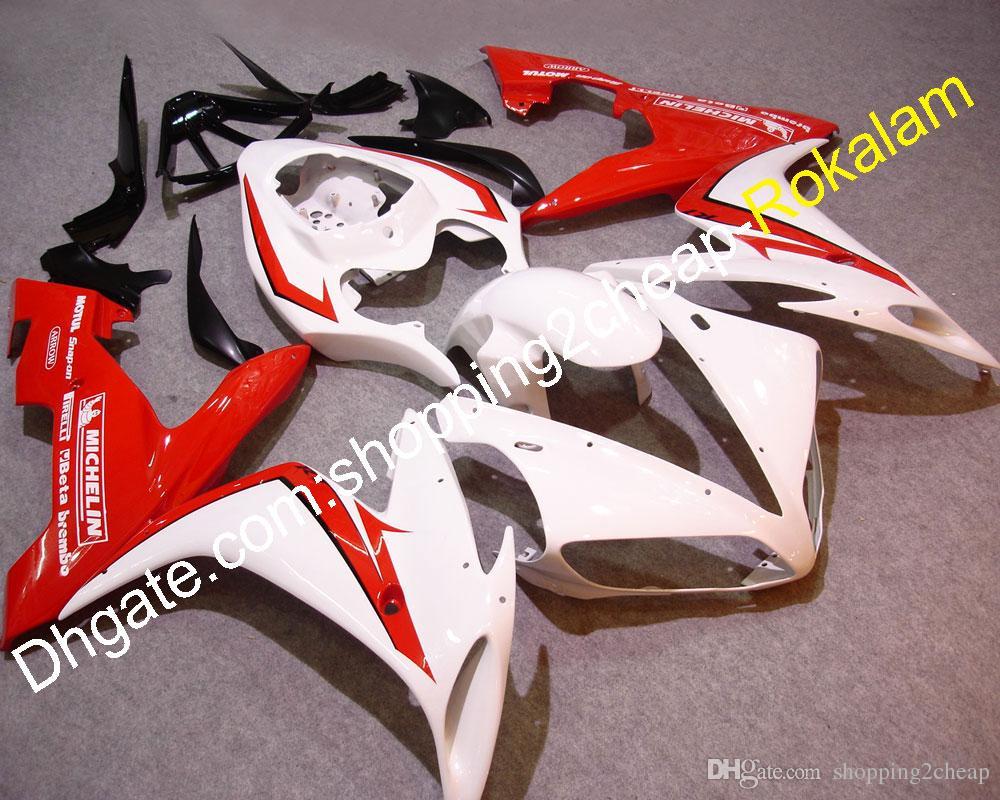 Garnitures de moto YZF 1000 R1 Capot de capotage pour Yamaha YZF R1 2004 2005 2006 YZF-R1 Carénage de moto rouge blanc (moulage par injection)