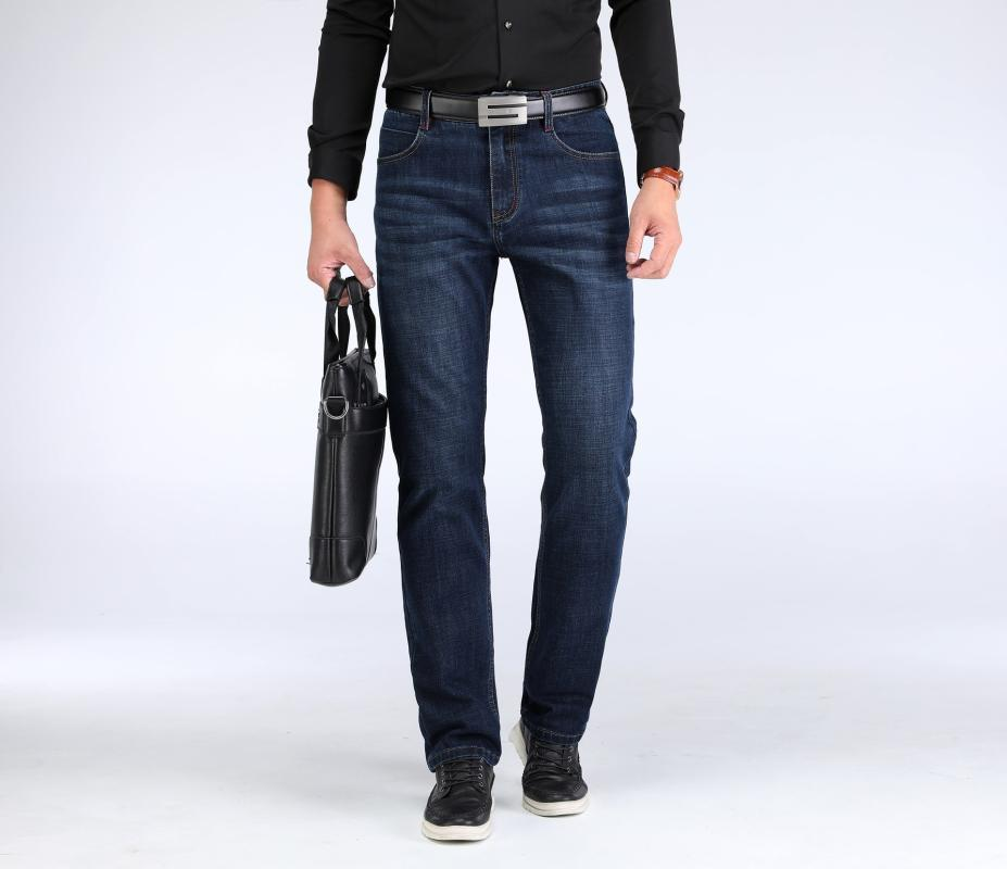Uomo autunno e inverno denim stretch Pantaloni 2018 del nuovo cotone di stile sciolto e Plus-sized commerciali pantaloni casual pantaloni da uomo