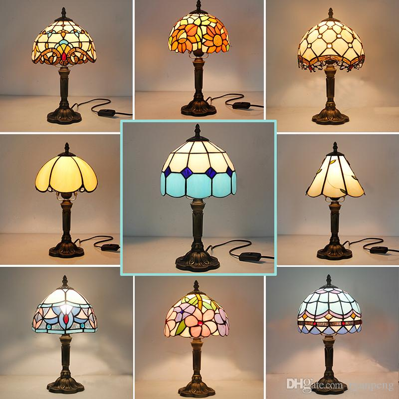 2019 Vintage Retro Stained Glass Turkish Table Lamp 110V 220V Creative Art  Turkish Mosaic Lamps Bedroom Light Decoration With Plug In From Ryanpeng,  ...
