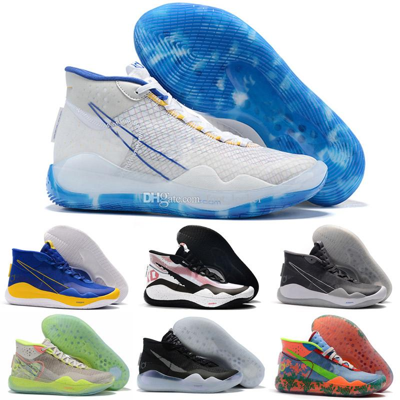 New Kevin Durant KD 12 Mens Basketball Shoes THE DAY ONE Black Red KID Fashion Men Athletic Sports Sneakers
