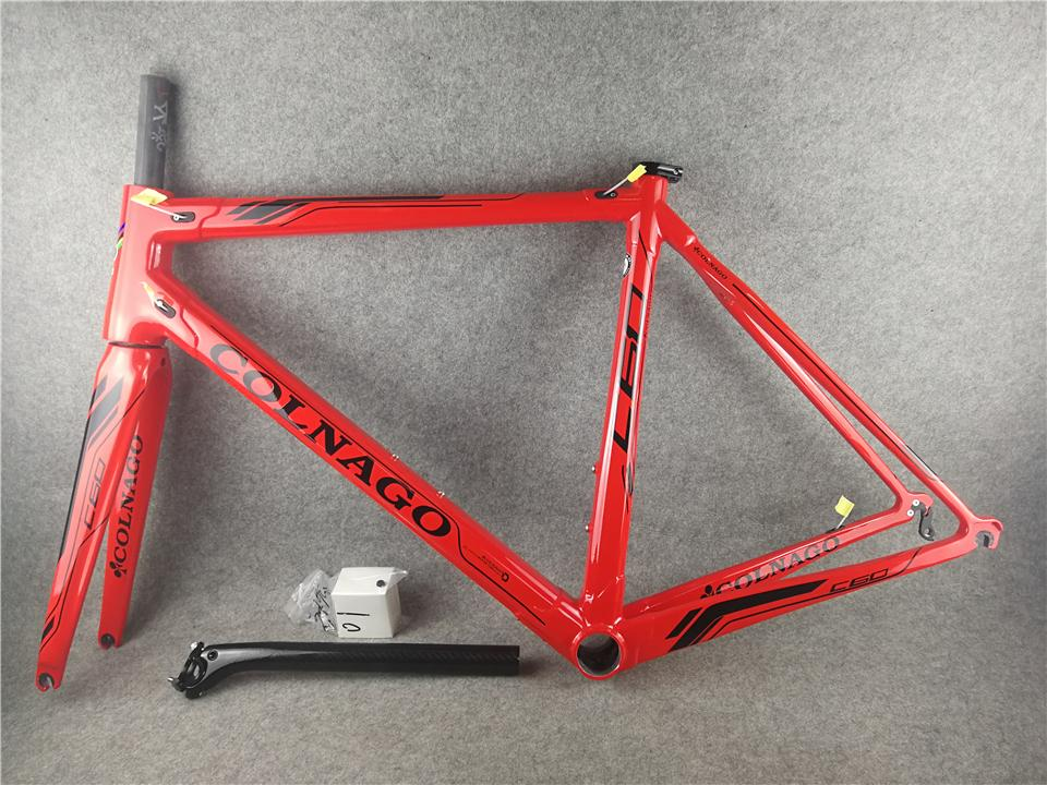 Black logo Red model T1000 3K/UD road bike C60 carbon road frames with XS/S/M/L BB386 free shipping