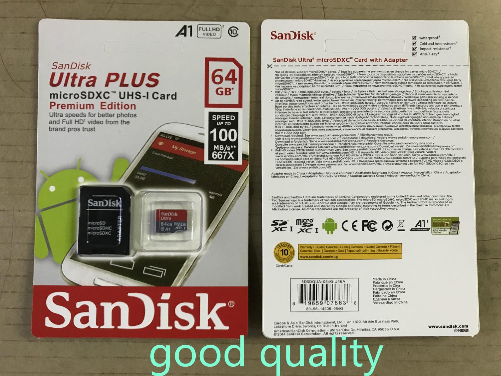 8GB / 16GB / 32GB / 64GB / 128GB / 256GB SDK الأصل بطاقة مايكرو التنمية المستدامة / بطاقة PC TF C10 / الفعلية بطاقة ذاكرة ذات سعة / SDXC بطاقة تخزين 100MB / S