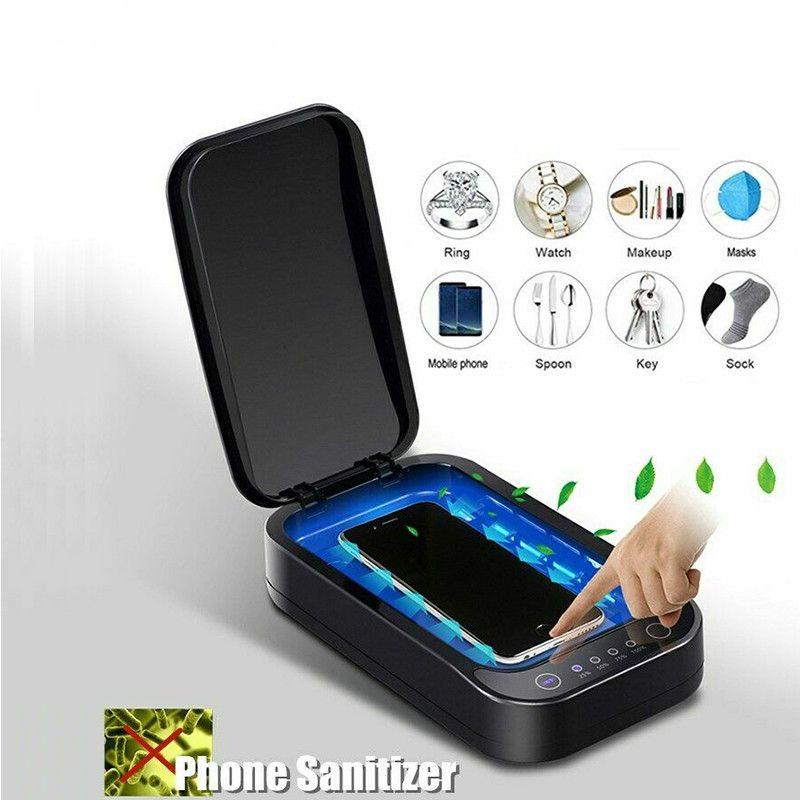 Портативный Перезаряжаемый УФ-дезинфицирующее средство для телефона,коробка стерилизатора телефона с быстрой беспроводной зарядкой телефона