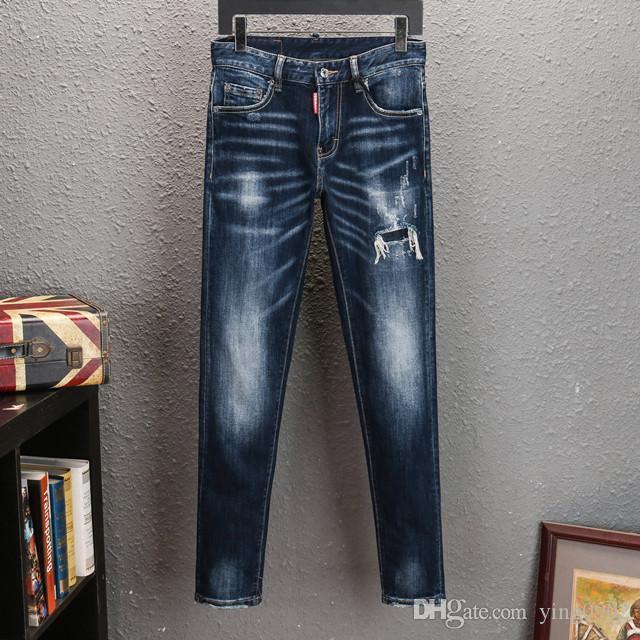 2020 Mens Designer Jeans Men Hip-Hop Байкер Джинсы Полосатый Хлопок джинсовой Будущее пересечения Мужчины Жан мотоцикл мужские тонкие джинсы Fit