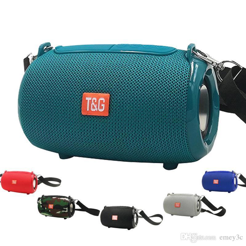 Altavoz Bluetooth TG533 buena calidad portátil Columna FM de radio inalámbrica a prueba de agua al aire libre Caja de altavoz powful altavoz del teléfono para las tabletas
