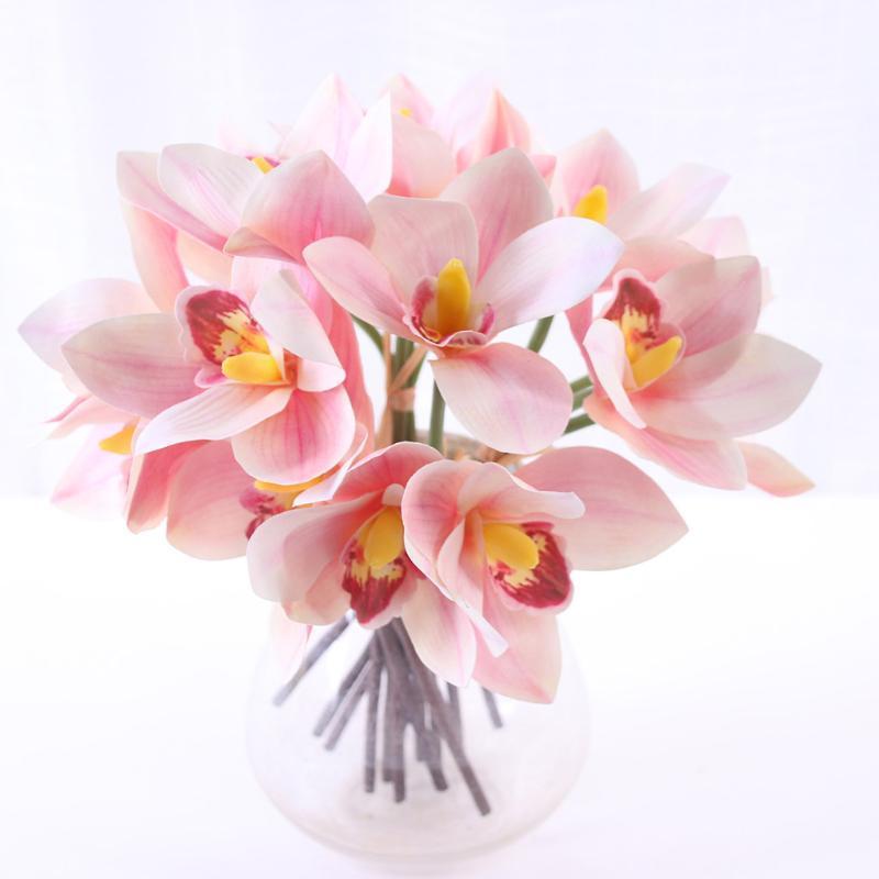 4шт искусственный цветок орхидеи свадьба поддельные орхидеи стол Центральный шелк ткань цветок