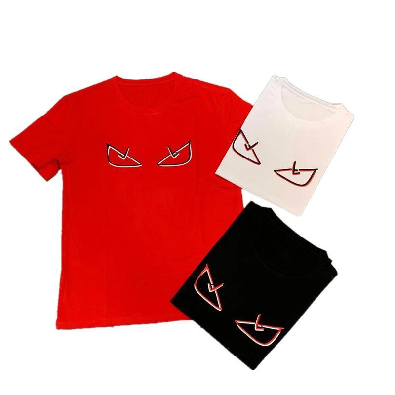 19ss мужская дизайнерская футболка для лета с коротким рукавом смешные Emoji печатные тройники 3 цвета уличный стиль пара футболка оптом