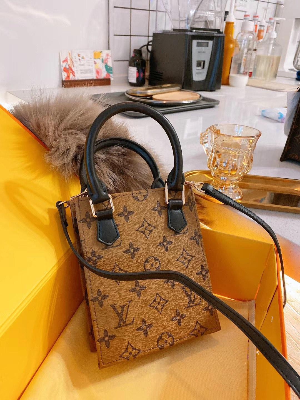 Nouveau gros Orignal vrai sac véritable épaule de mode sac messager dame en cuir Satchel paquet presbytes PURS téléphone mobile 8067